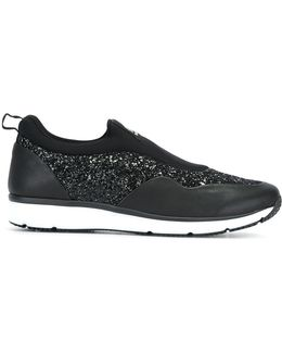 Glitter Effect Slip-on Sneakers