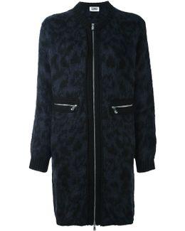 Animal Print Zipped Coat
