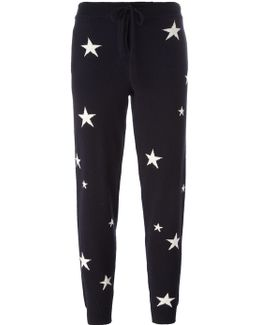 Star Intarsia Track Pants