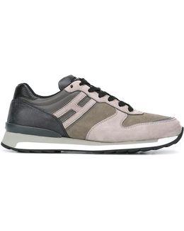 Contrast Texture Sneakers