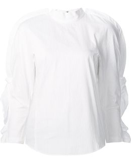Ruffled Sleeves Blouse