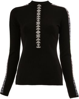 Geometric Trim Knitted Top