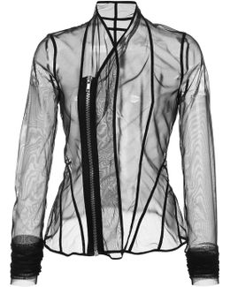 Sheer Fitted Jacket