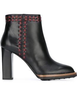 Stitched Leather Ankle Boots