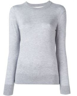 Ribbed Detailing Pullover