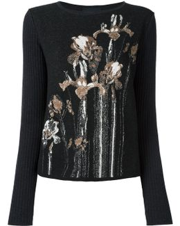 Floral Intarsia Sweater