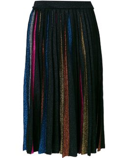 Contrast Pleated Skirt
