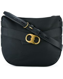 Metallic Buckle Shoulder Bag