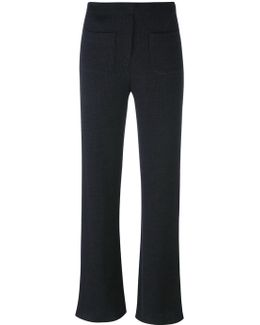 Ribbed 'flare' Trousers