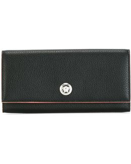 Medusa Head Foldover Continental Wallet