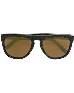'rectangular Visetos' Logo Printed Sunglasses
