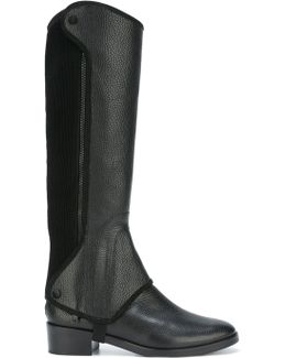 Milburn Leather and Suede Riding Boots