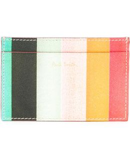 'artist Stripe' Print Cardholder