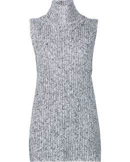 Marled Knitted Top