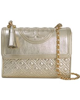 Fleming Metallic Convertible Leather Bag