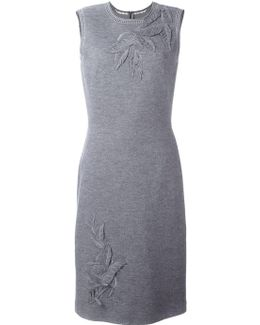 Patched 'leaves' Knit Dress