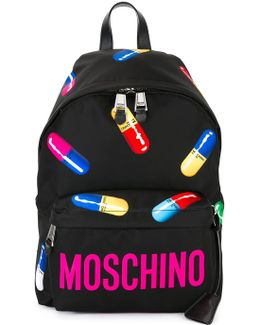Pill Print Backpack