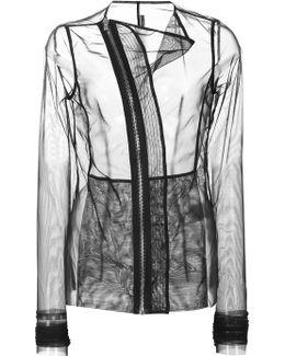 Curved Zip Sheer Jacket