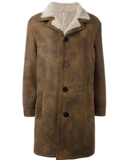 Buttoned Mid Coat