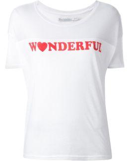 Wonderful Print T-shirt