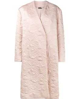 Butterfly Embroidered Cocoon Coat