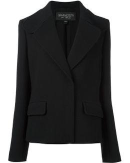 Concealed Fastening Cropped Jacket