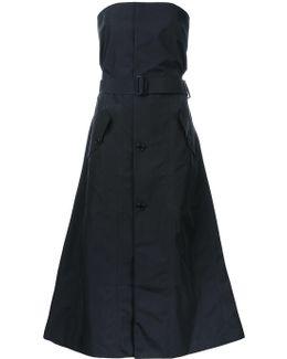 Strapless Buttoned Dress