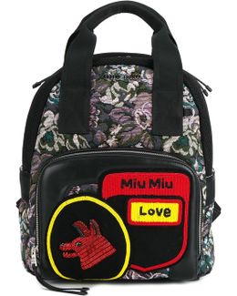 - Small Floral Jacquard Backpack - Women - Leather/nylon/pvc - One Size