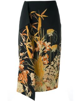 No21 Floral Print Skirt