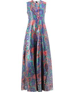 Abstract Print Sleeveless Dress
