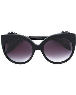 Embellished Cat Eye Sunglasses