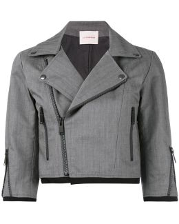 Cropped Biker Style Jacket