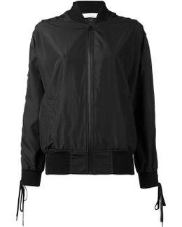 Laced Sleeve Bomber Jacket
