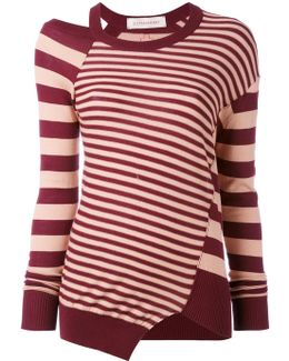 Striped Cut Out Top