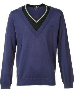 Contrast Neck Jumper
