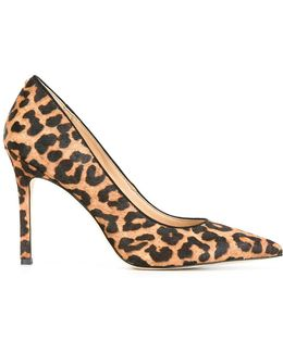 Hazel Calf Hair and Faux Leather Leopard Print Pumps