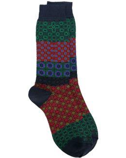 Geometric Print Socks