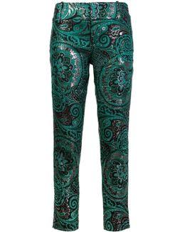 Jacquard Slim Fit Pants