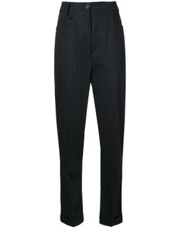 Drop-crotch Skinny Trousers