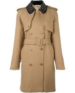 Studded Collar Trenchcoat