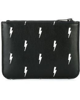 Lightning Bolt Print Wallet