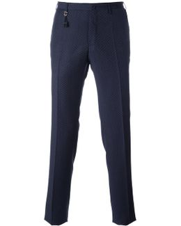 Patterned Slim Fit Trousers