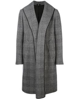 Glen Plaid Mid Coat
