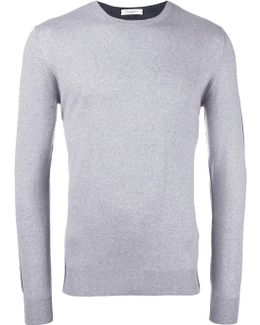 Bicolour Round Neck Jumper
