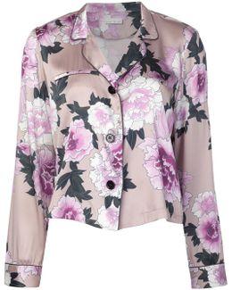 Floral Print Pajama Top