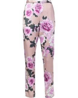 Contrast Back Pajama Trousers