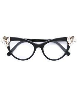 Embellished Cat Eye Glasses