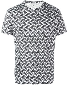 Motorcycle Print T-shirt