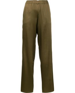 Elasticated Waistband Flared Trousers