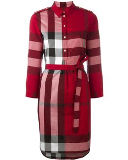'house Check' Shirt Dress
